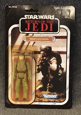 Vintage Star Wars Unpunched Rebel Commando 1983 Kenner 77A Cardback Rotj Moc