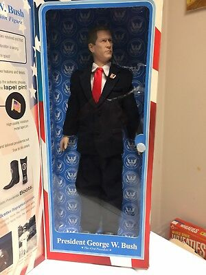 President George W. Bush Talking Action Figure Toy Presidents- New in Box