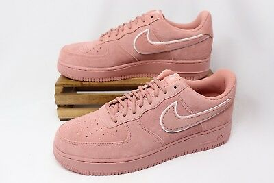 Nike Air Force 1  07 LV8 Suede Casual Shoes Pink Stardust AA1117-601 Men s 9cd0233c0