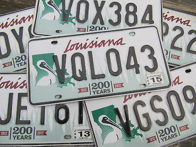 Louisiana Large Green Pelican License Plate Bicentennial - (Pick Your Tag)