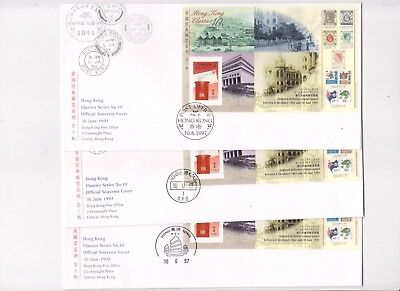 """Hong Kong, 1997, """"last Day Of British Colony"""" S/s On Gpo Fdc Choose Chop"""