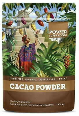 Power Super Foods Organic Cacao Powder 1kg 20% OFF