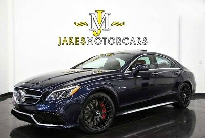 2016 Mercedes-Benz CLS-Class CLS63 AMG S-Model 4MATIC DESIGNO ($120,305 MSRP) 2016 MERCEDES CLS63 AMG S~ DESIGNO~ $120,305 MSRP~ LUNAR BLUE ON RED~ 12K MILES