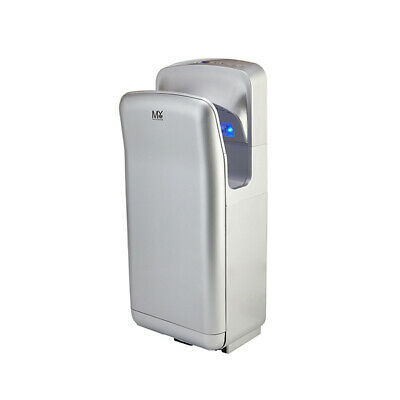Silver Wall Mounted Automatic Abs Jet Brush Hand Dryer Commercial Grade Bathroom