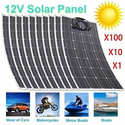 100W/200W/300W Mono Flexible Solar Panel 12V Battery Charger for RV lot 1-100 BE