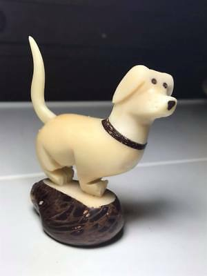 Hand Carved Tagua Nut Dog Carving