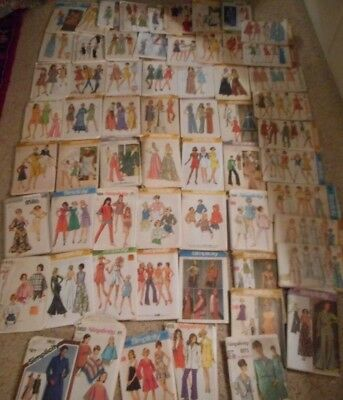 Vintage 1970's Simplicity Womans' Sewing Patterns Lot 58+