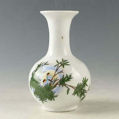 Chinese Exquisite Porcelain Hand-Painted Bird Vase CC1273