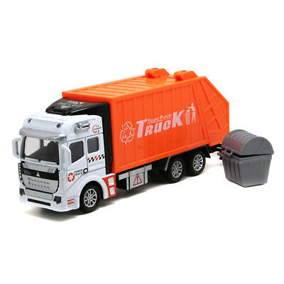 High Quality Car Simulation Model Toy Kids Gifts Pull Back Power Garbage Truck