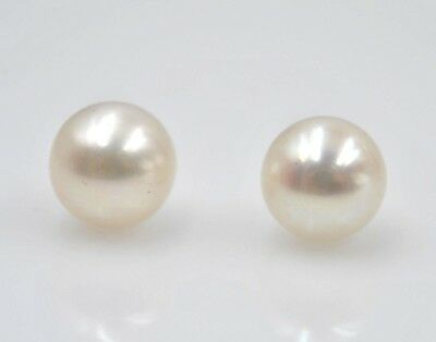 993ac6079 14 kt Yellow Gold Pearl Earring Studs push backs Great Gift Sale