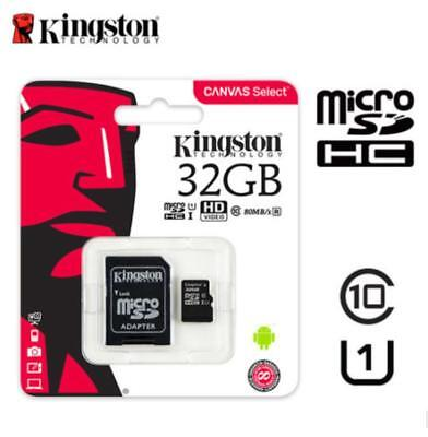 Kingston 32GB Micro SD SDXC UHS-I Memory Card SDHC Class10 with Adapter 80MB /s