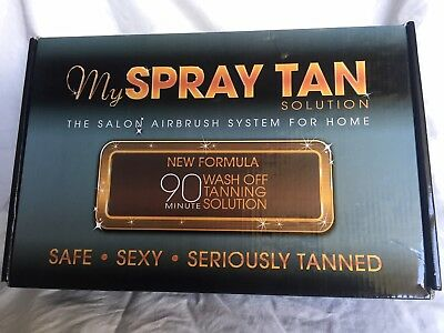 """""""My Spray Tan Solution: the salon airbrush system for home"""" as new, never used"""