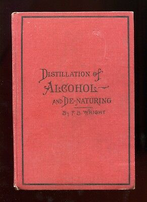 DISTILLATION OF ALCOHOL AND DE-NATURING by F.B. Wright 1907 Camelot Press