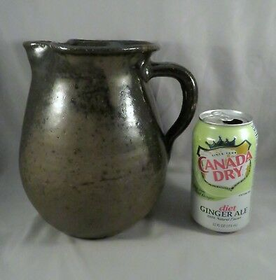 HUGE Vintage Lanier Meaders Mossy Creek Georgia GA Glazed Stoneware Pitcher Jug