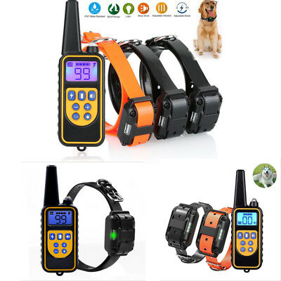 Rechargeable Remote Sport Dog Trainer Shock Electric Training Collar 1-3 Dogs