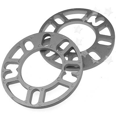 2X Thickness 10mm Alloy Wheel Spacers Shims Universal Car Spacer 4 & 5 Stud Fit