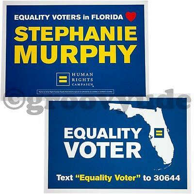 LGBTQ Gay Stephanie Murphy Congress 2018 Human Rights Campaign HRC Vote Poster