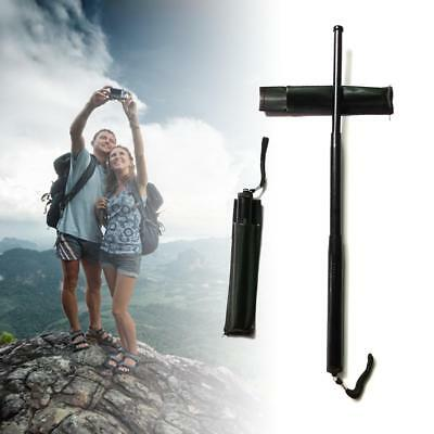 Self-Defense Three Sections Telescopic Sticks Retractable Outdoor Whip Camping