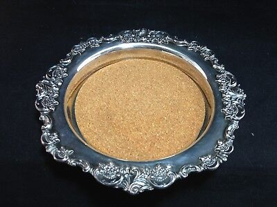 Wallace BAROQUE Champagne or Wine Coaster #726 with Liner Old Style