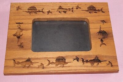 DEEP SEA FISHING Wooden Picture Frame
