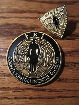 Fbi Counterintelligence Division Challenge Coin Lapel Pin Rare Collectible Wow!