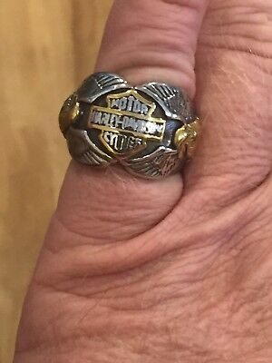 New Mens Harley Davidson Shield and Wing Ring Size 9 or 10