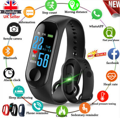 Fitness Smart Watch Activity Tracker Women Men Fitbit Android iOS Heart Rate UK