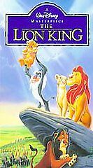 The Lion King (VHS, 1995) Walt Disney Masterpiece Collection
