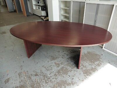 Office 2300Mm Mahogany Oval Boardroom / Meeting Table Brisbane