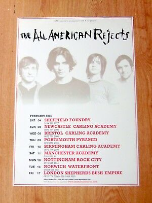 All American Rejects Original Tour Poster  Manchester  2006