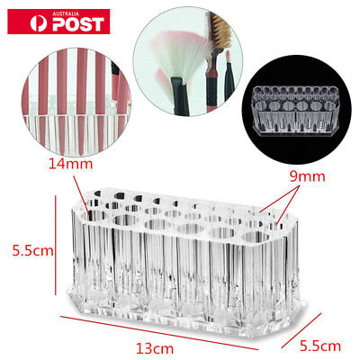 Clear Acrylic 26 Holder Brush Makeup Cosmetic Organizer eyeliner Display Stand