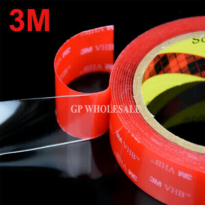 3M VHB #4910 Double-sided Clear Transparent Acrylic Foam Adhesive Tape Long 3M