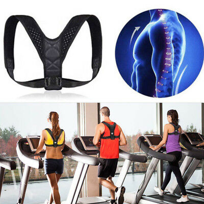 Posture Corrector Back Brace Support Shoulder Belt Adjustable Women Men Unisex