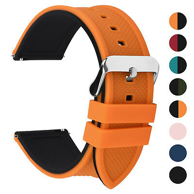 18/20/22/24mm Watch Band Silicone Men Women Sport Watch Strap Waterproof Rubber