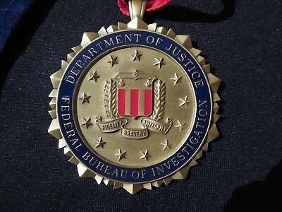 Fbi Seal Christmas Ornament Decoration Heavy Metal Rare Collectible Wow!