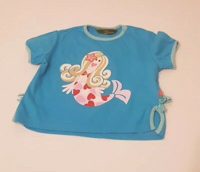 Oilily Mermaid T-Shirt, Baby Girl, Age 12 - 18 months, Ex Con