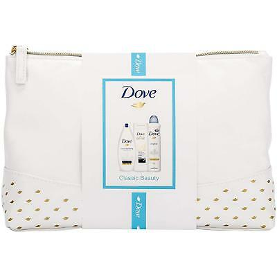 Dove  Classic Beauty Wash Bag Women's Gift Set With Body Lotion, Body Wash And