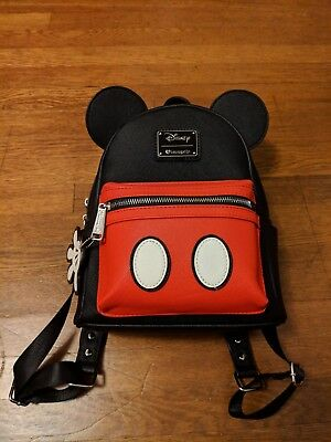 NEW Loungefly Disney Mickey Mouse Ears Red & Black Mini Fashion Backpack Purse