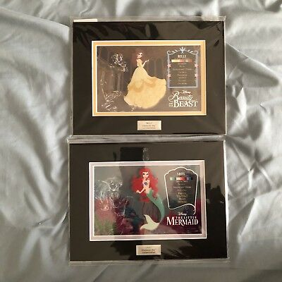 Disney Ariel And Belle Character Key Cel Little Mermaid Beauty And The Beast
