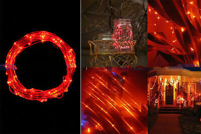 2M 20LED Copper Wire String Starry Light Fairy AA Battery Power Party Decor Red
