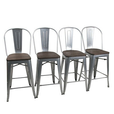 Pleasing 4 Metal Bar Stools 24 Counter Chairs Bar Chair High Back Gmtry Best Dining Table And Chair Ideas Images Gmtryco