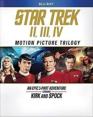 Star Trek: The Motion Picture Trilogy Movies 2, 3, 4 II, III, IV, BluRay, Spock