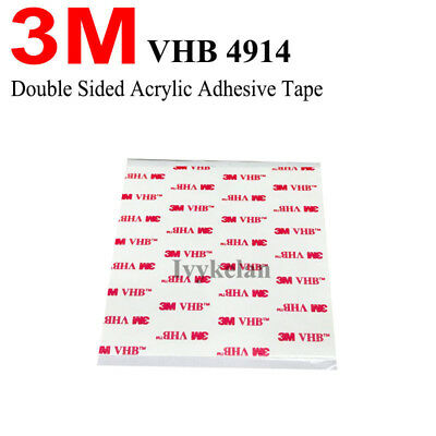 Thin 3M VHB Tape 4914 For LCD/Display and Bezel bonding, White 0.25mm Thick 10cm