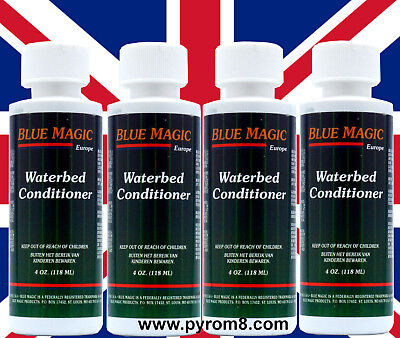 Blue Magic All Purpose Waterbed Conditioner 118ml 4oz x 4 Bottles