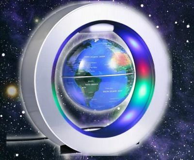 Magnetic Levitation Floating LED Globe World Map O Or C Shape Light Home Decor