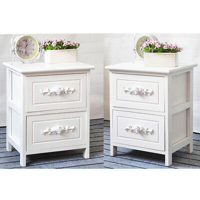Bedside Table Unit Cabinet Nightstand