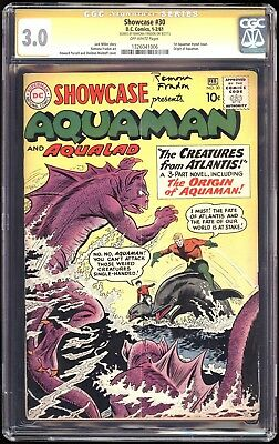 SHOWCASE 30, CGC 3.0 SS SIGNED by RAMONA FRADON! 1st Appearance AQUAMAN tryout