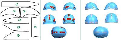 PORTWEST PA91 red or silver safety helmet hard hat reflective sticker pack