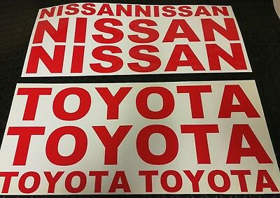 NISSAN / TOYOTA STICKER DECALS x4 pk FORKLIFT CAR VAN