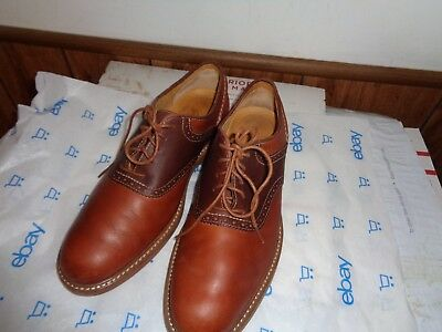 Sperry Men's Gold Cup Oxford Brown Leather Saddle Shoes Size 8M
